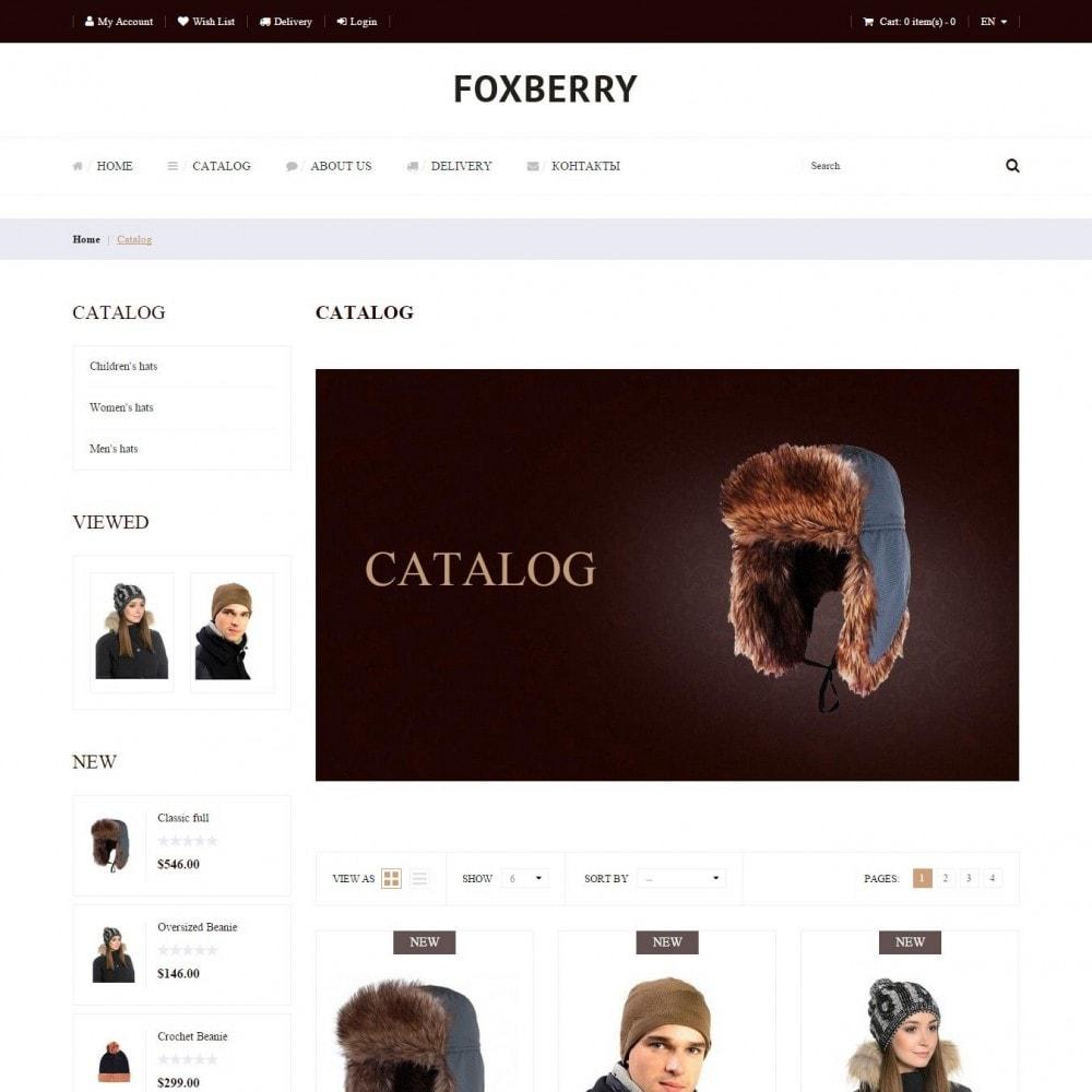 theme - Мода и обувь - Foxberry - Магазин Шапок - 3