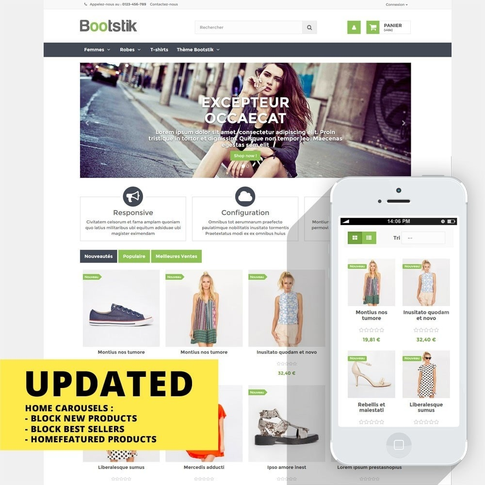 theme - Mode & Chaussures - Theme Responsive Bootstik - 1