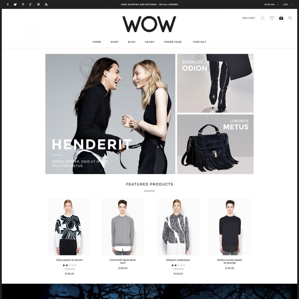 theme - Moda & Calzature - Wow - New Fashion Responsive PrestaShop - 1