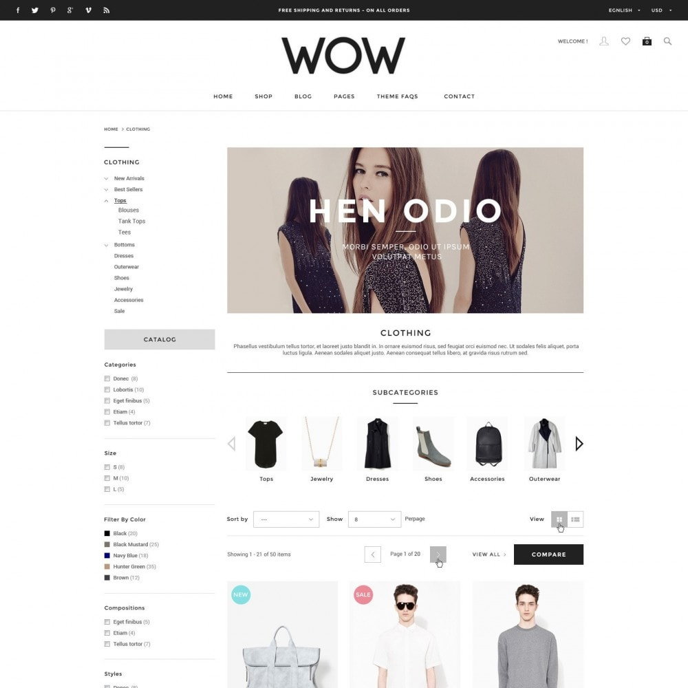 theme - Mode & Schoenen - Wow - New Fashion Responsive PrestaShop - 2
