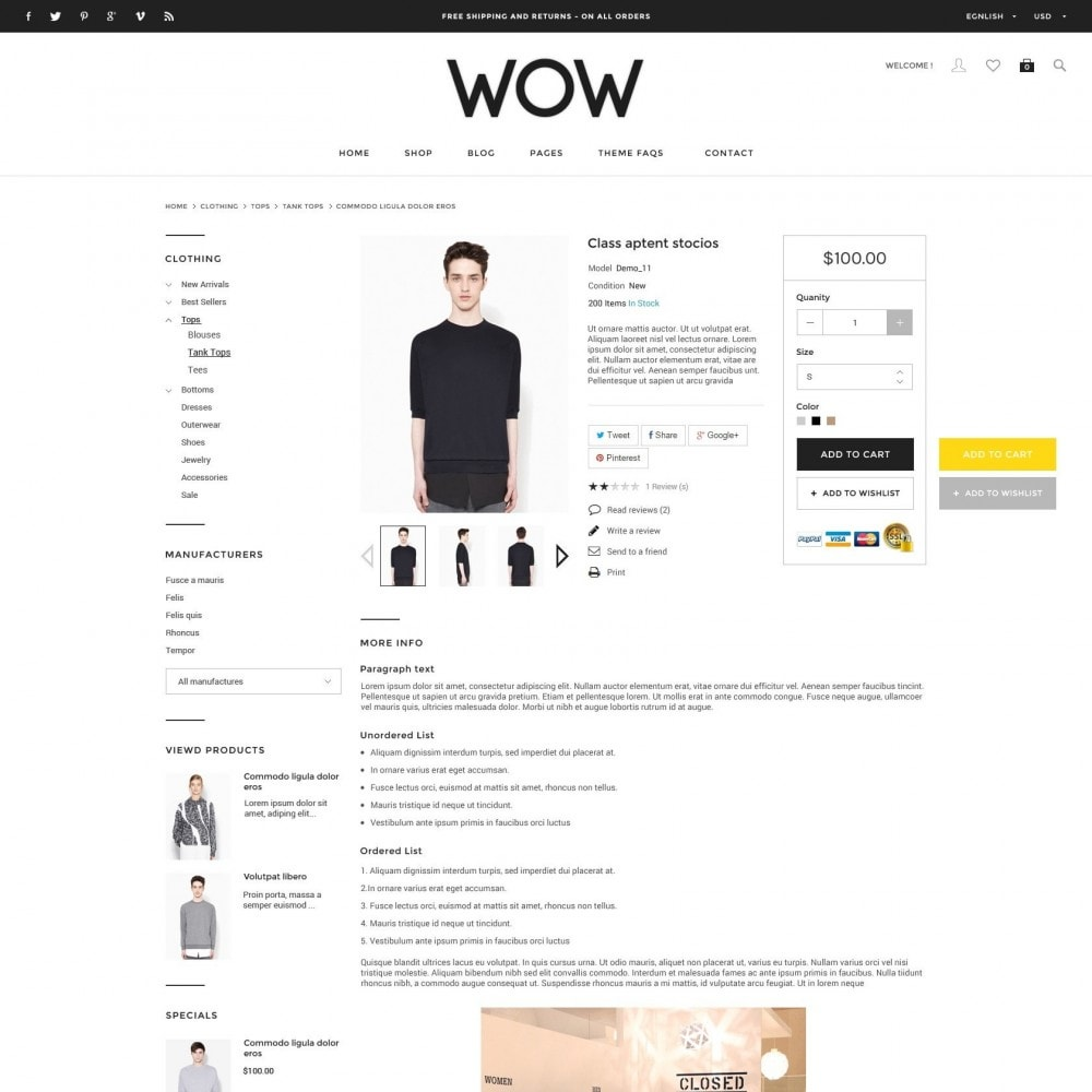 theme - Moda & Calzature - Wow - New Fashion Responsive PrestaShop - 4