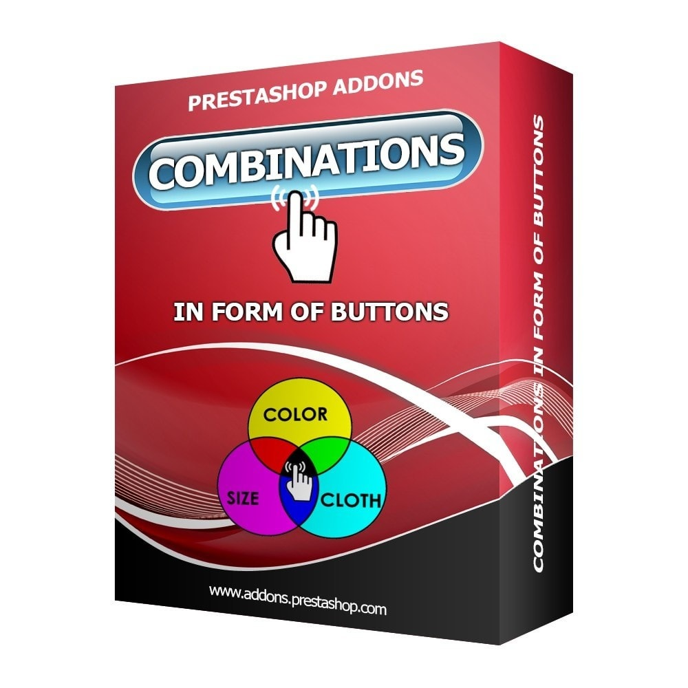 module - Combinaciones y Personalización de productos - Combinations in the form of buttons - 1