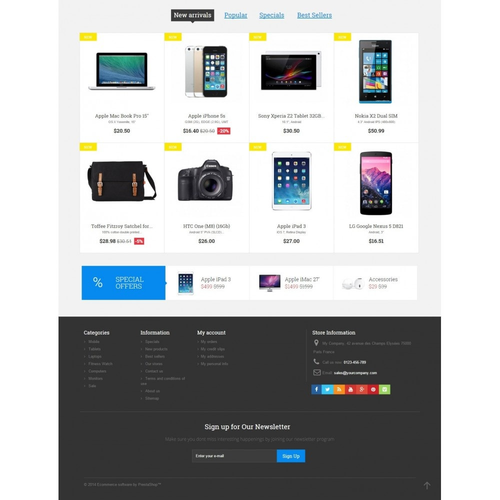theme - Elektronika & High Tech - Digital Market Responsive Prestashop 1.6 Template - 4