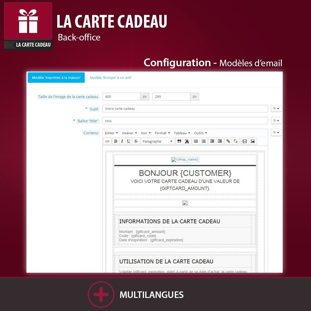 module - Liste de souhaits & Carte cadeau - La Carte Cadeau - 7