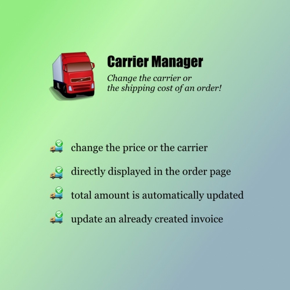 module - Transportadoras - Carrier Manager - 1