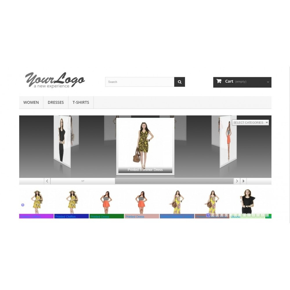 module - Sliders & Galerias - Amazing Prestashop 3D Slider - 3