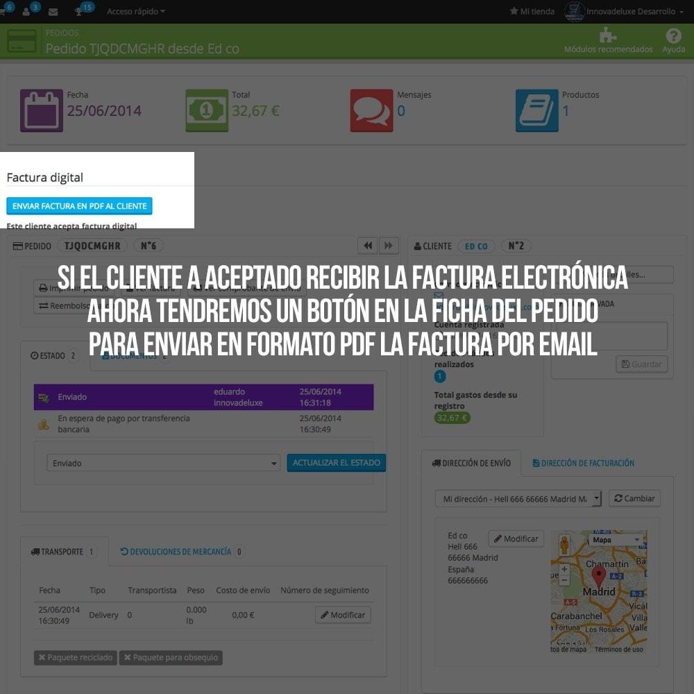 module - Contabilidad y Facturas - Factura Electrónica (cumplimiento normativa comercio) - 4