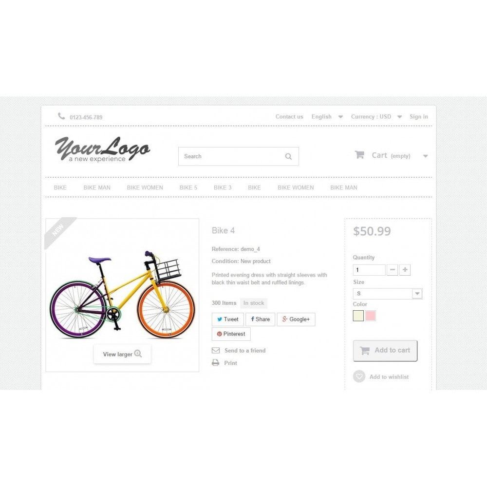 Neutral, Sport and activities - Template Prestashop