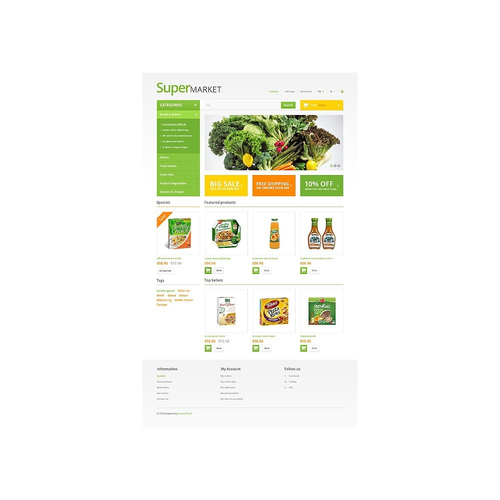 theme - Продовольствие и рестораны - Responsive Supermarket - 2