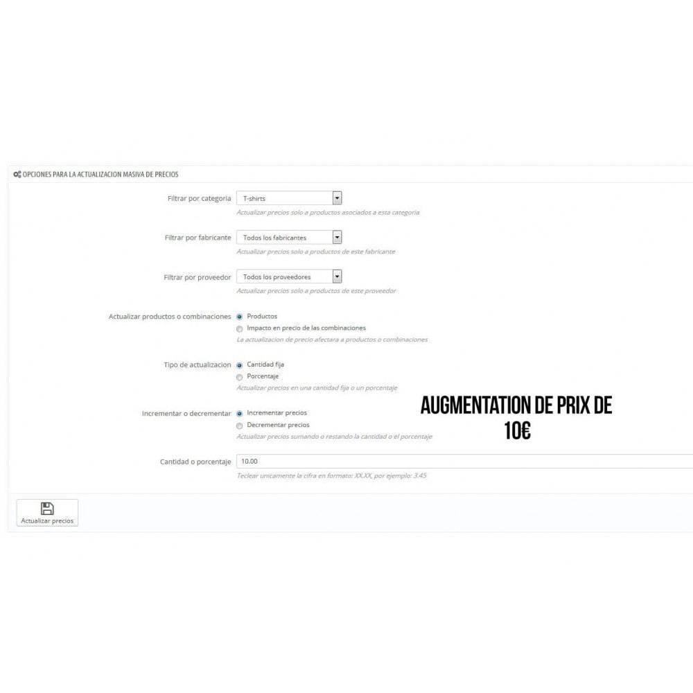 module - Edition rapide & Edition de masse - Mise à jour globale des prix - 4