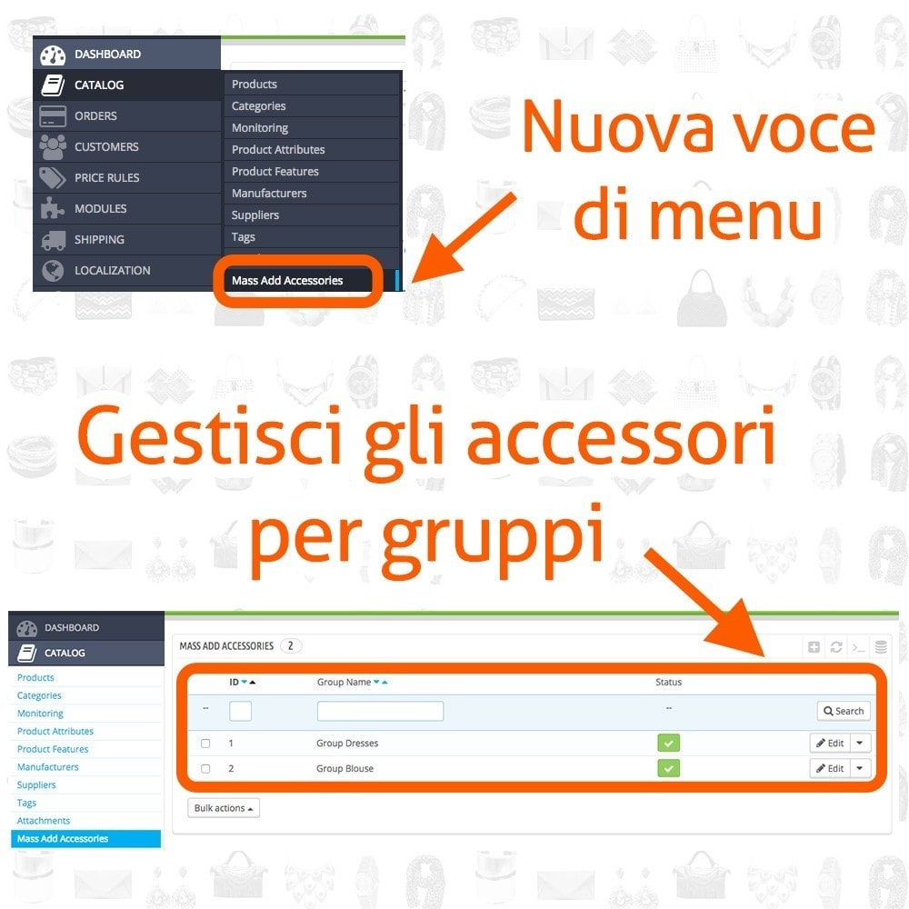 module - Modifica rapida & di massa - Fast and Easy Associazione Massiva Accessori - 2