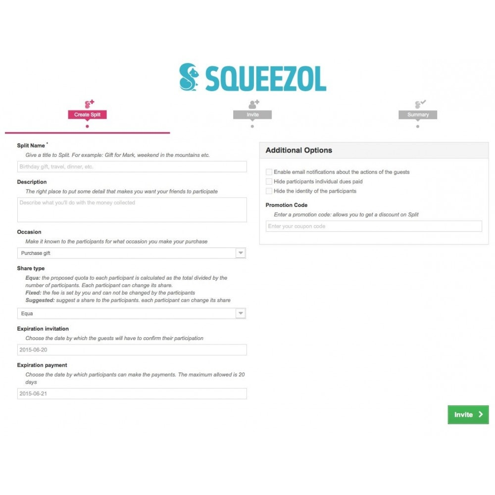 module - Autres moyens de paiement - Squeezol Split - Pay with Squeezol(split with friends) - 4