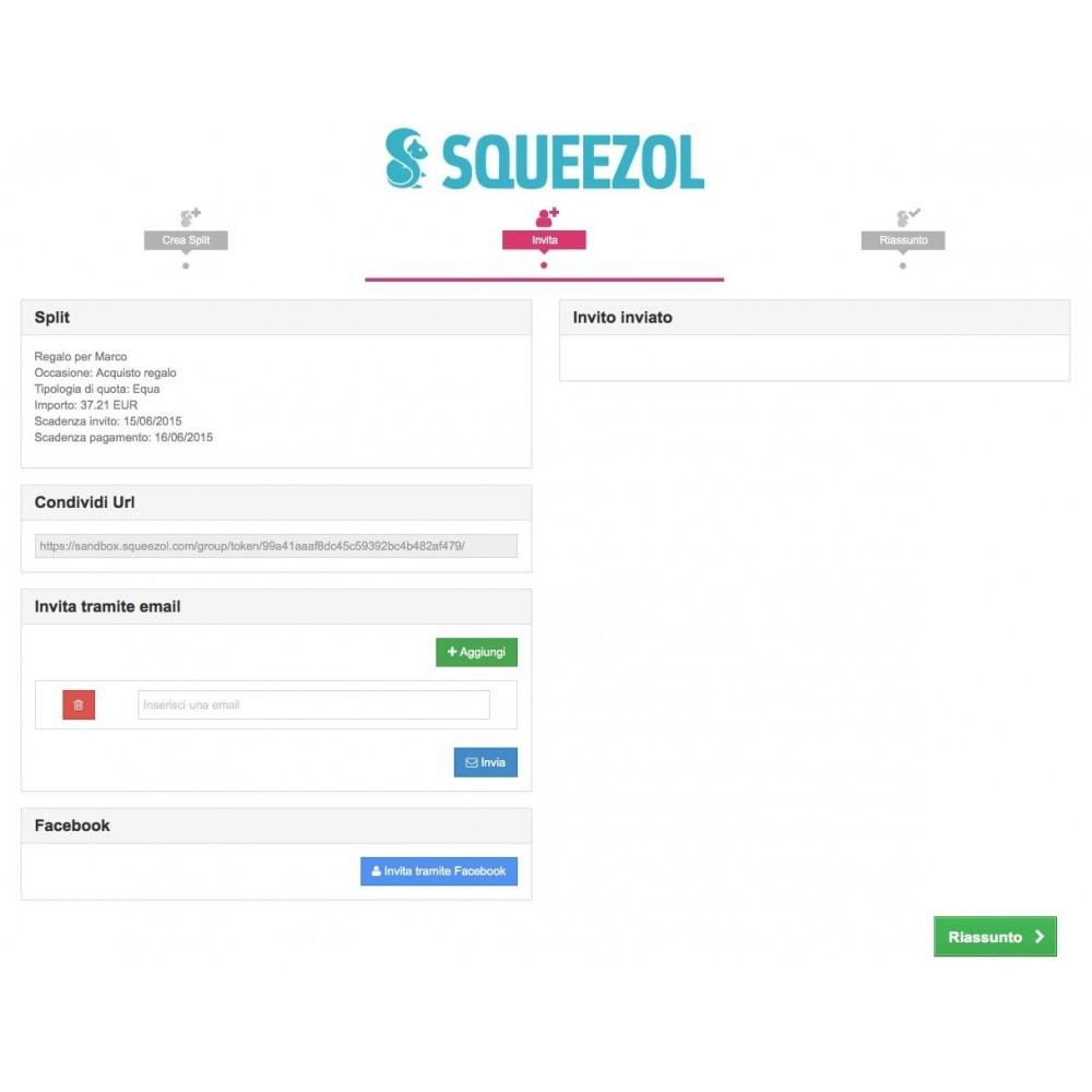 module - Altri Metodi di Pagamento - Squeezol Split-Paga con Squeezol(dividi con gli amici) - 5