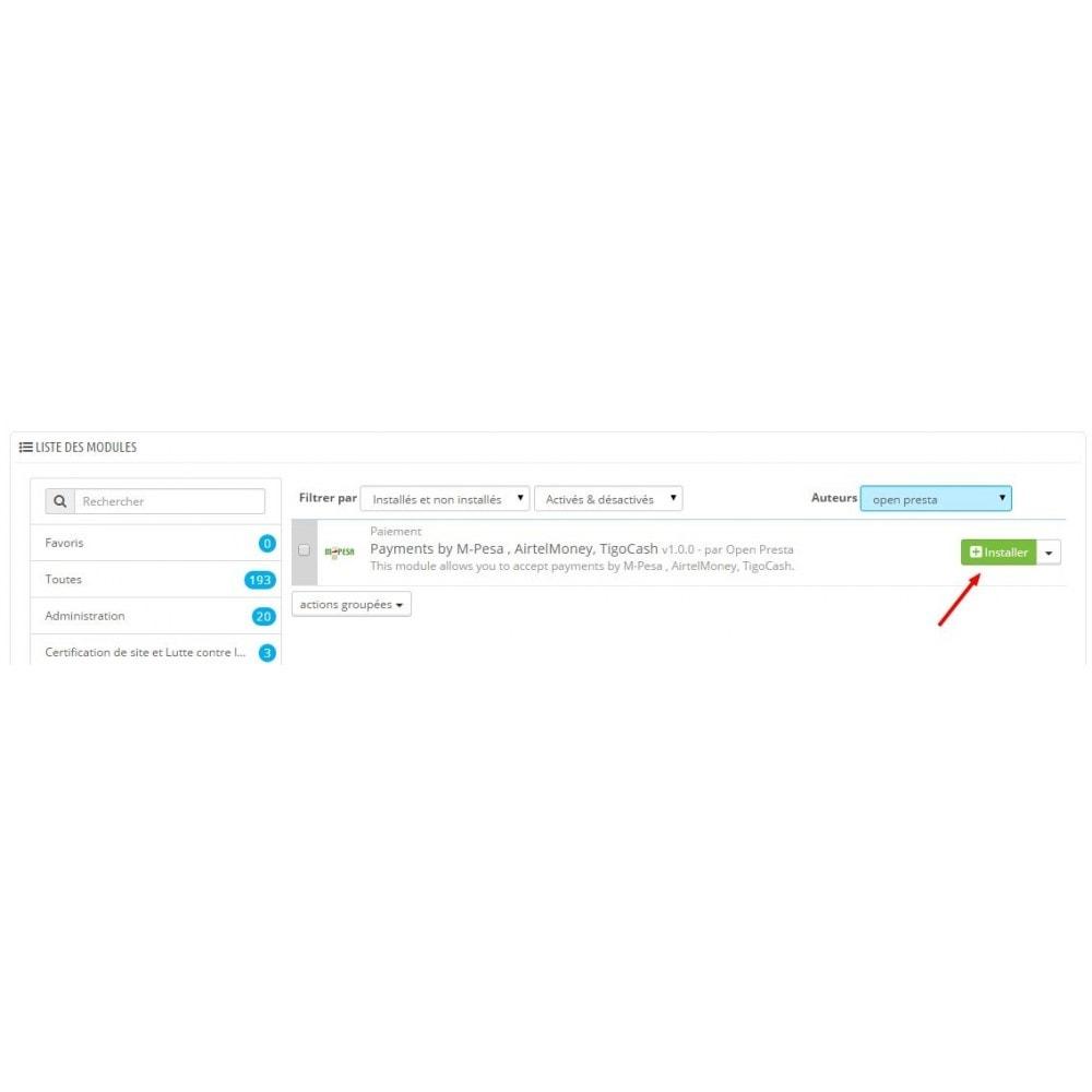 module - Autres moyens de paiement - Payments by M-Pesa , AirtelMoney, TigoCash - 8