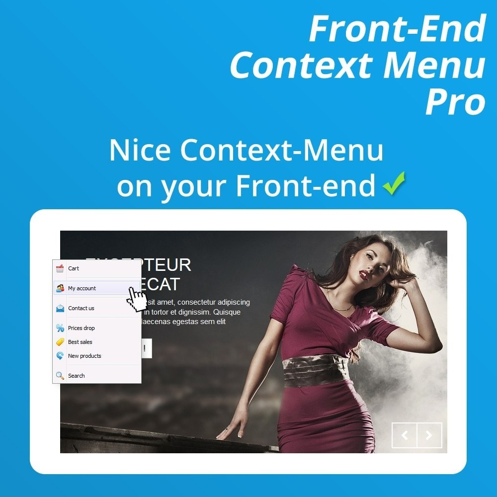 module - Menü - Front-End Context Menu Pro - 3