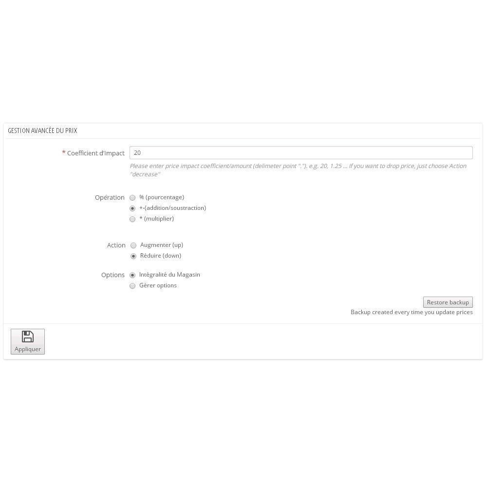 module - Edition rapide & Edition de masse - Assistant de mise à jour de prix en masse - 1