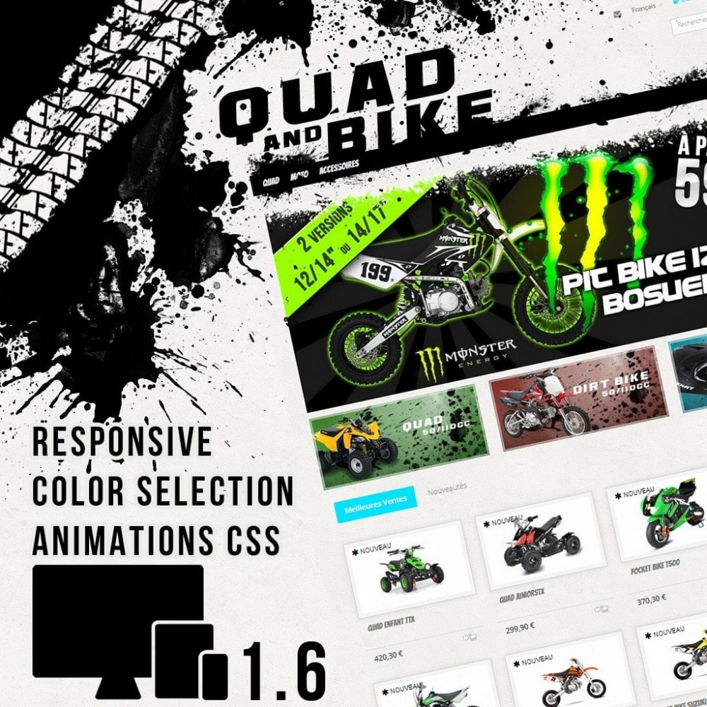 theme - Auto's & Motoren - Quad and Bike - 1