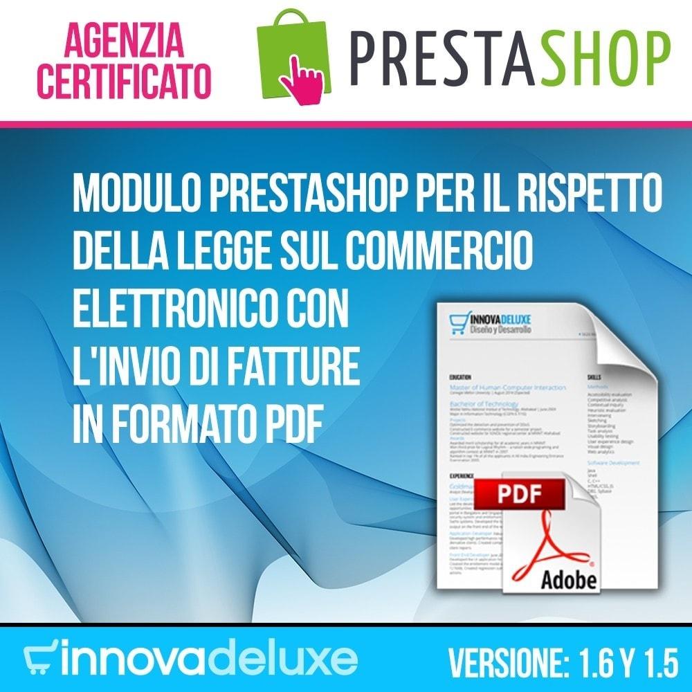 module - Contabilità & Fatturazione - Fattura elettronica (regole di conformità commercio) - 1