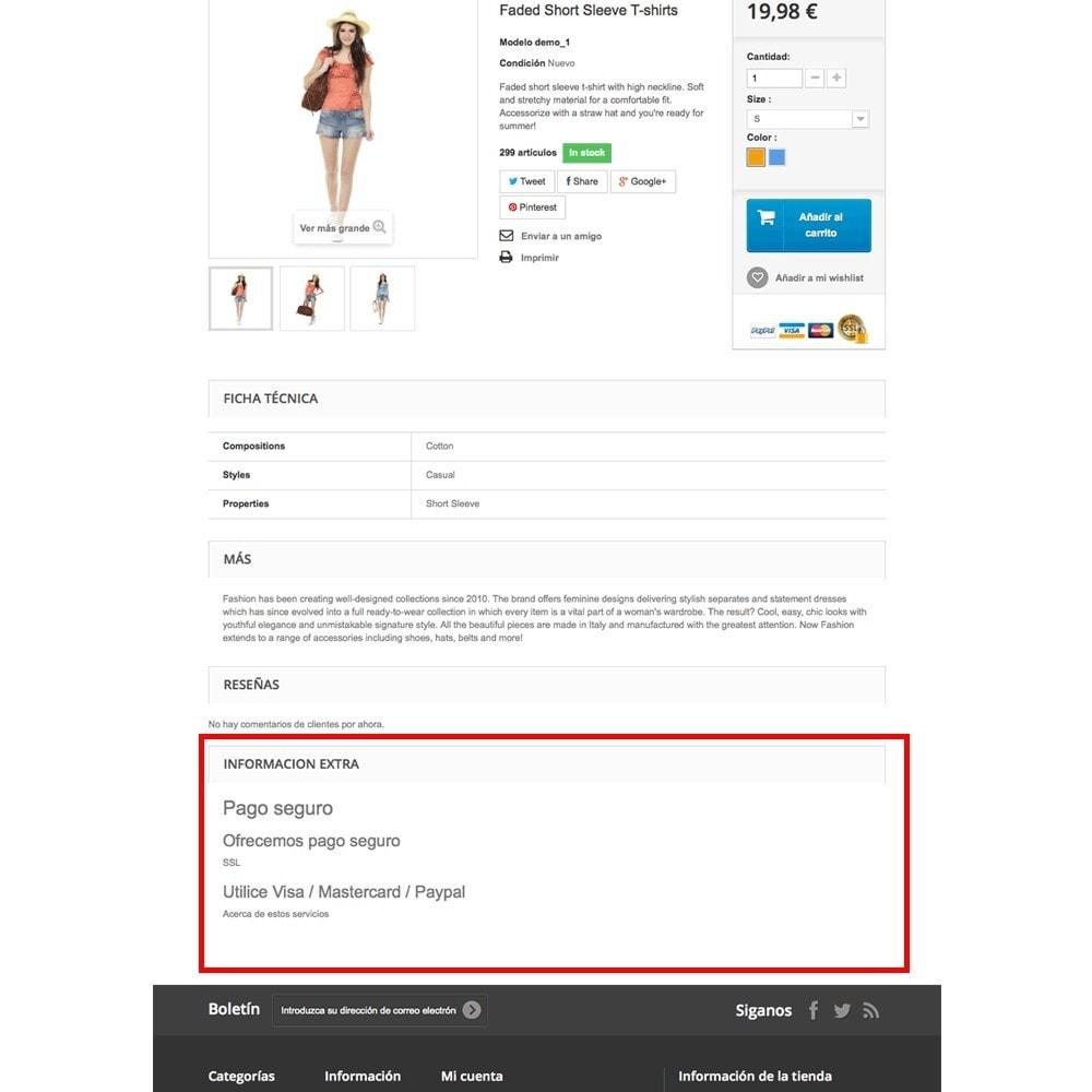 module - Informaciones adicionales y Pestañas - Páginas CMS en pestaña de ficha de producto - 6