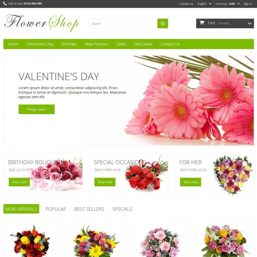 theme - Gifts, Flowers & Celebrations - FlowerShop - 2
