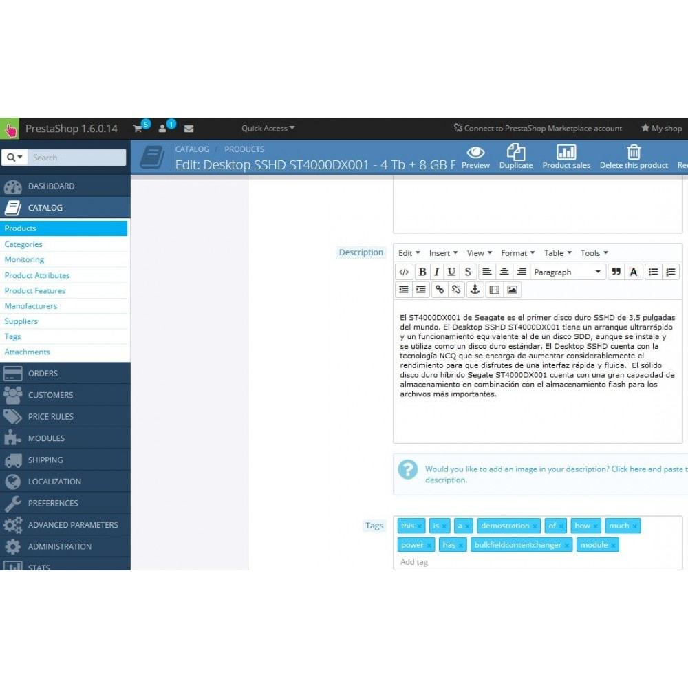 module - Snelle & seriematige bewerking - Bulk Field Content Changer - 5