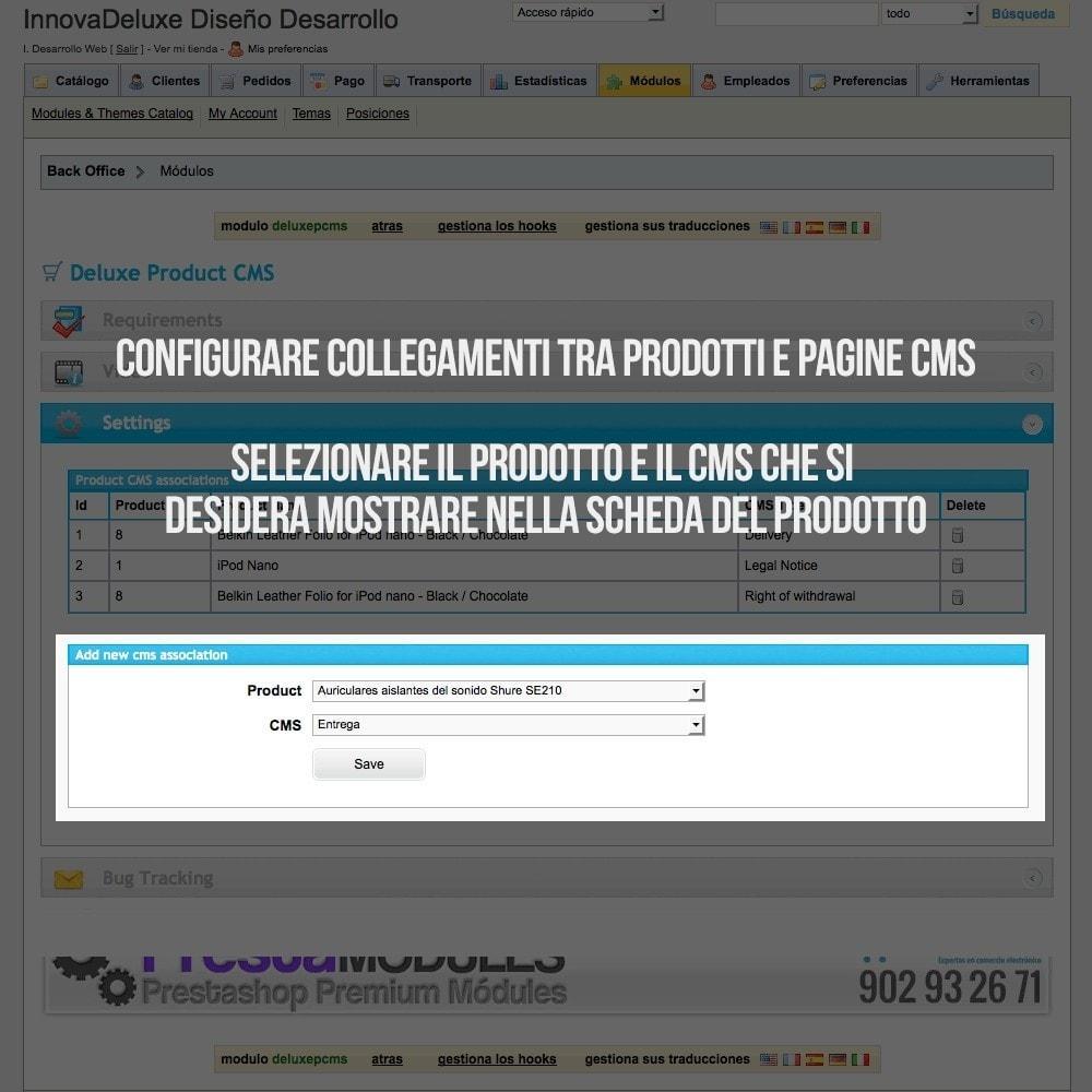 module - Altre informazioni & Product Tab - Pagine CMS nelle schede prodotto - 2