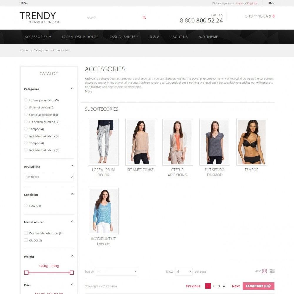 theme - Мода и обувь - Trendy - Магазин Модной Одежды - 3