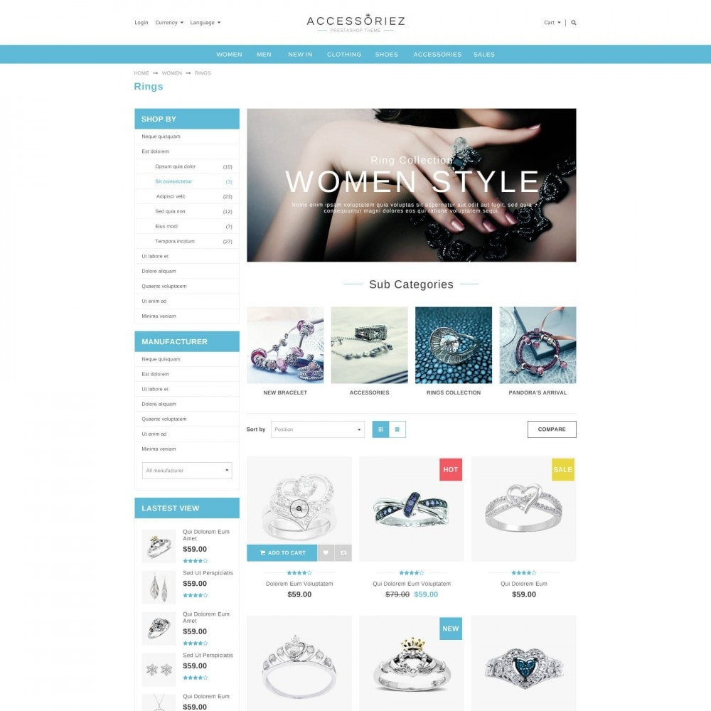 ET Accessories - Responsive Beauty & Jewelry PrestaShop