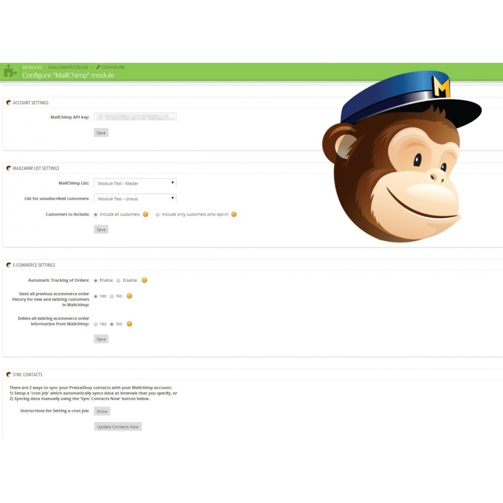 module - Boletim informativo & SMS - Mailchimp Marketing - 1