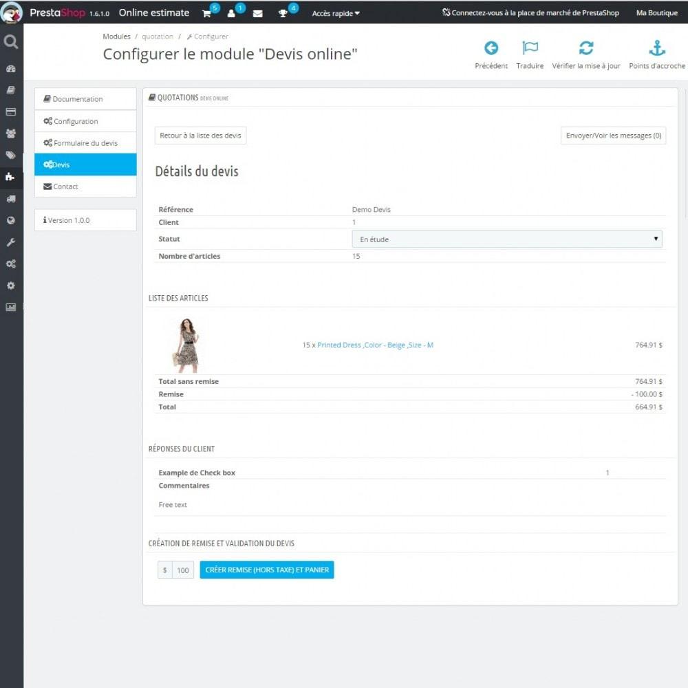 module - Devis - Devis en ligne - 7