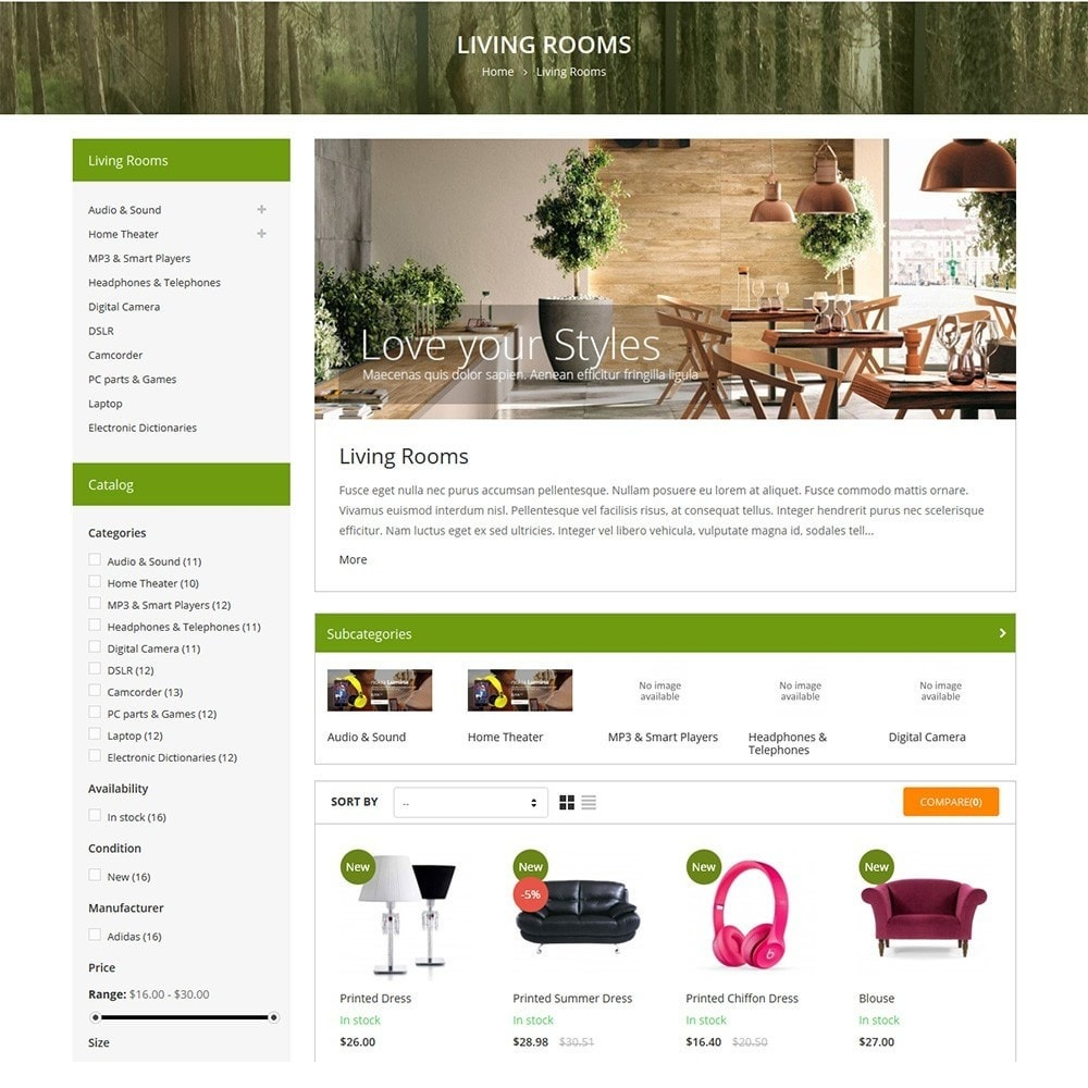 Funismart - Furniture Store Responsive PrestaShop