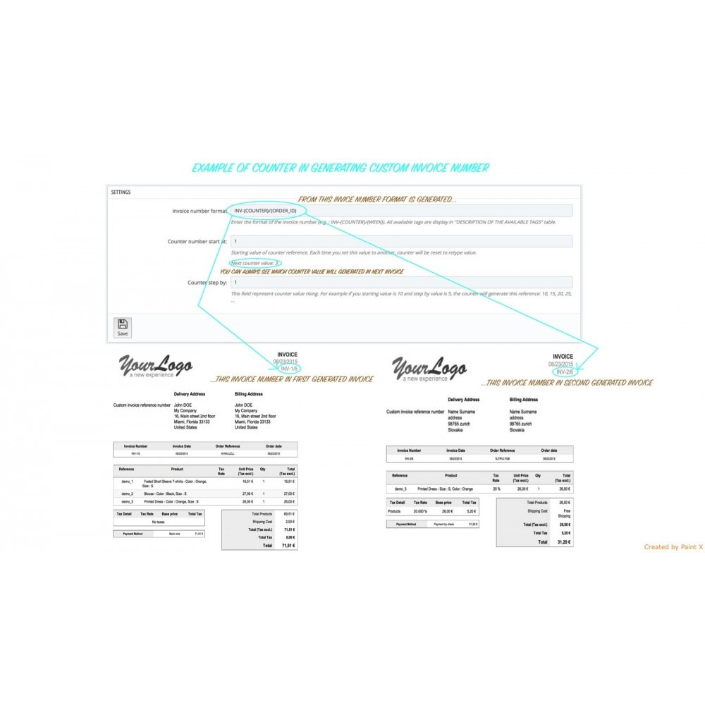 module - Contabilidade & Cobrança - Custom Invoice Reference Number,Edit and Remove Invoice - 5