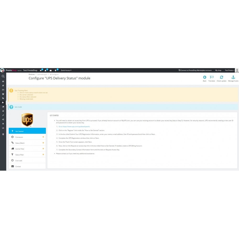 module - Delivery Tracking - UPS Delivery Status - 2