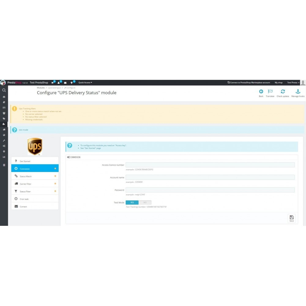 module - Bezorging volgen - UPS Delivery Status - 3