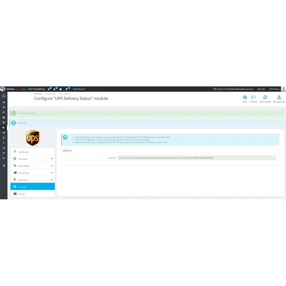 module - Bezorging volgen - UPS Delivery Status - 7