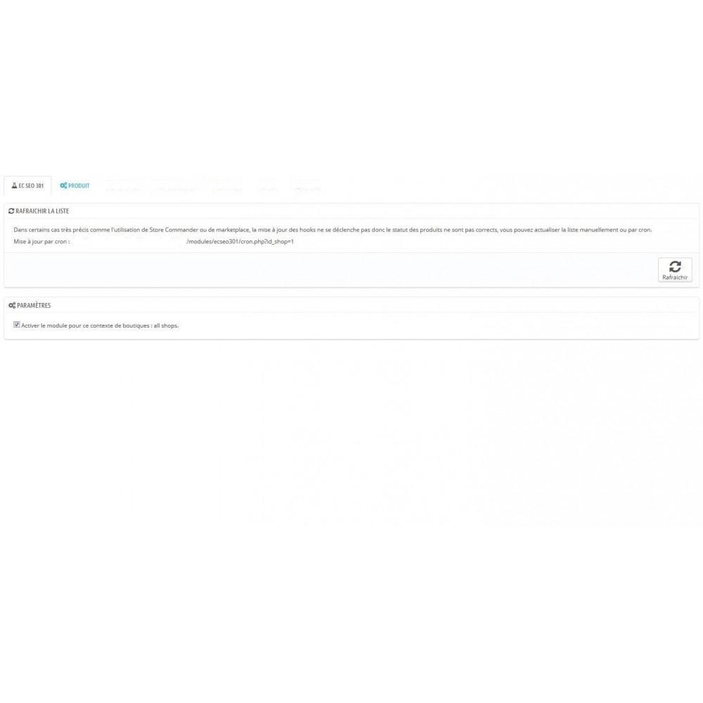 module - URL & Redirections - SEO - Produits désactivé et supprimé redirection 301 - 1