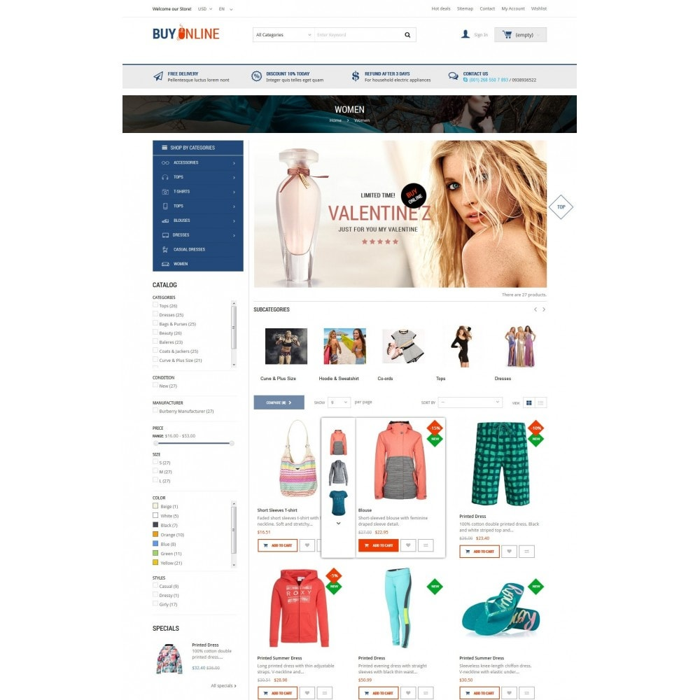 theme - Mode & Schuhe - BuyOnline - Fashion Store Responsive PrestaShop - 4