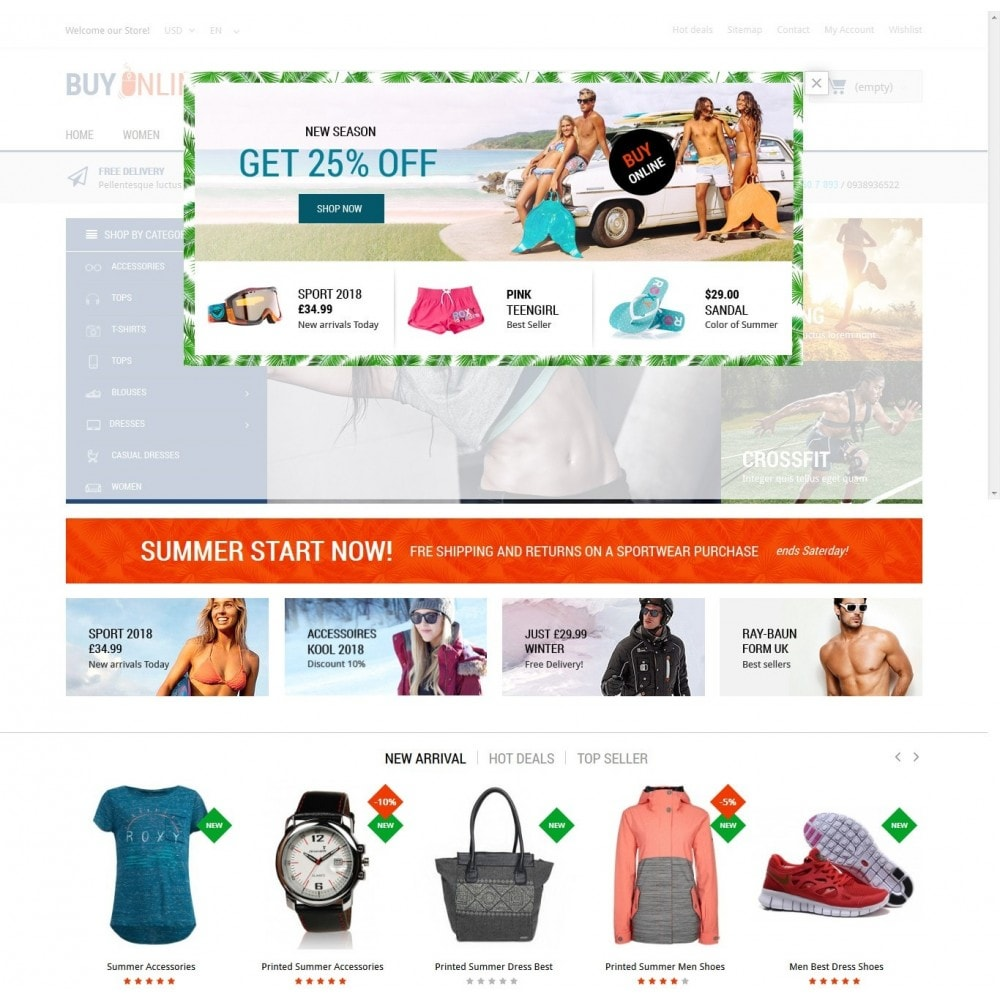 theme - Mode & Schoenen - BuyOnline - Fashion Store Responsive PrestaShop - 6
