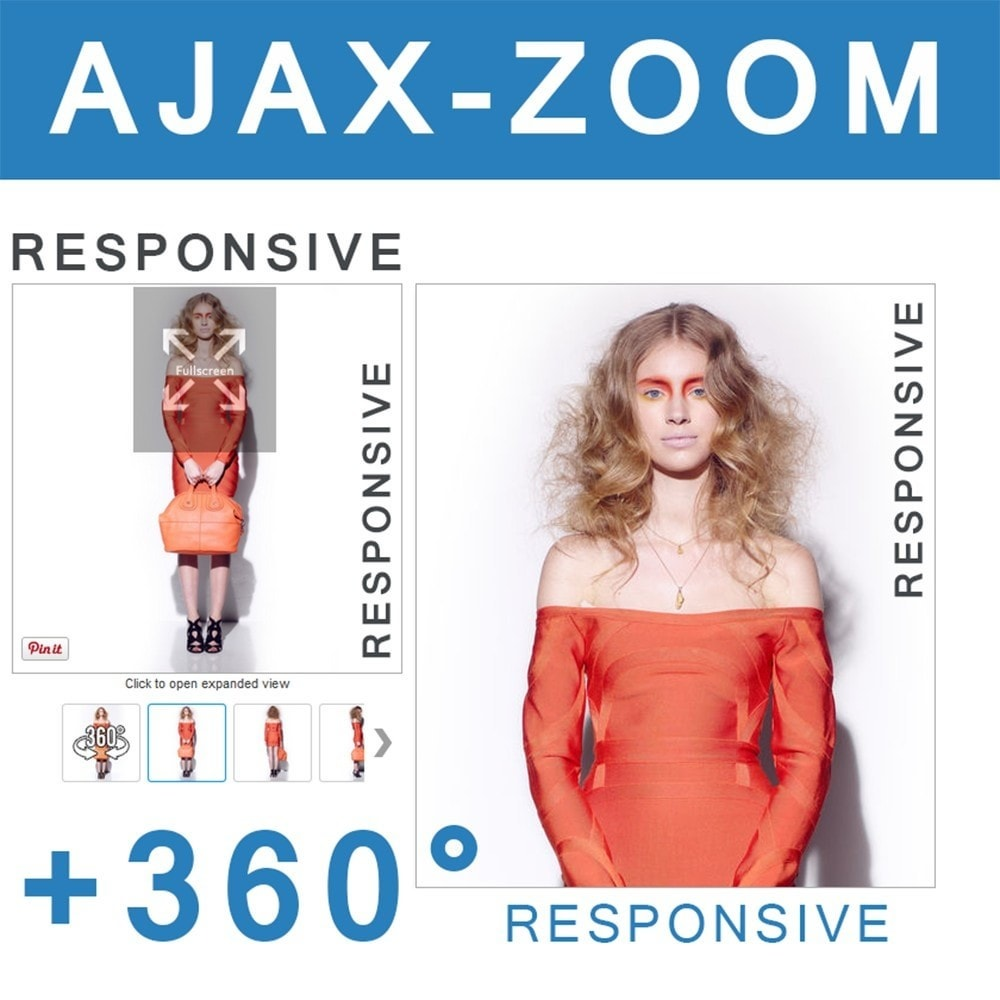 module - Visual Products - AJAX-ZOOM: responsive product image zoom + 360° spin - 1