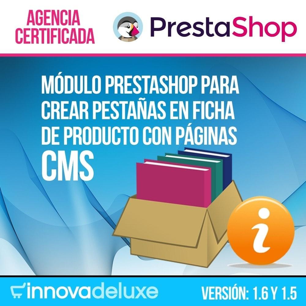 module - Informaciones adicionales y Pestañas - Páginas CMS en pestaña de ficha de producto - 1