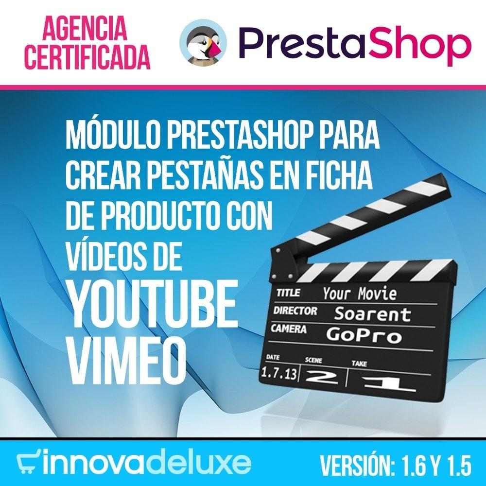 module - Vídeos y Música - Videos (Youtube - Vimeo) en Pestaña de Producto - 1