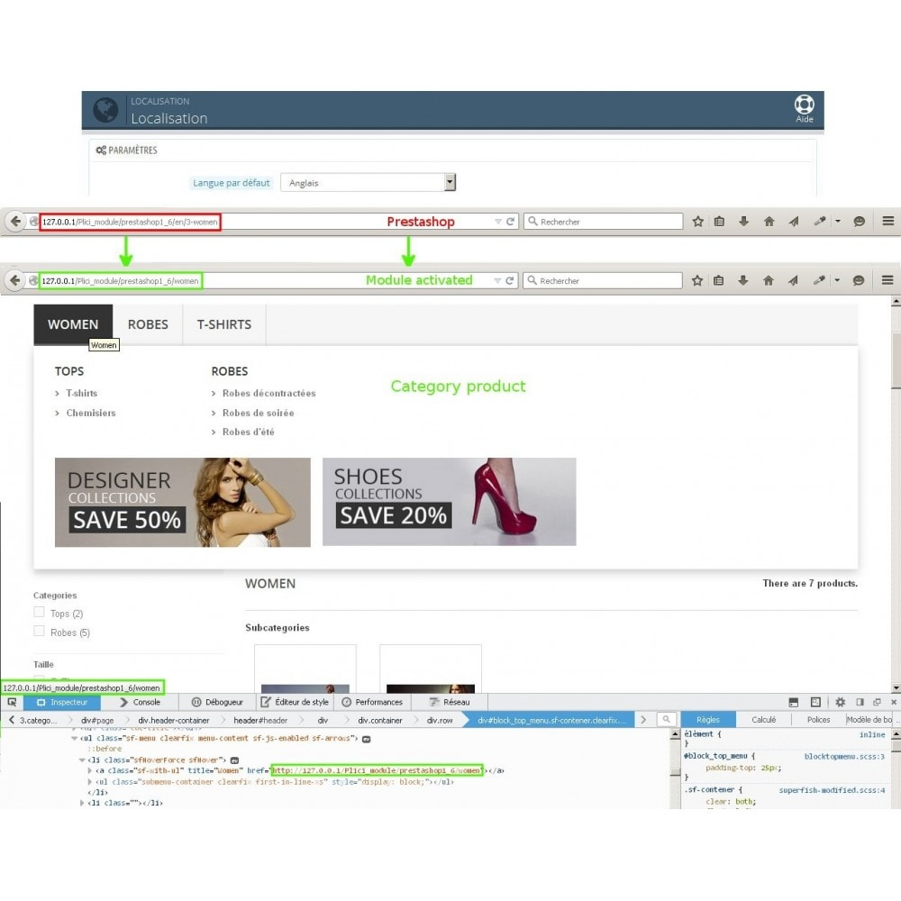 module - Gestão de URL & Redirecionamento - Url cms produits categories modifier - 1