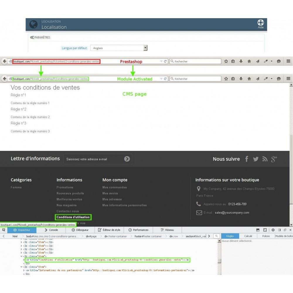 module - Gestão de URL & Redirecionamento - Url cms produits categories modifier - 6