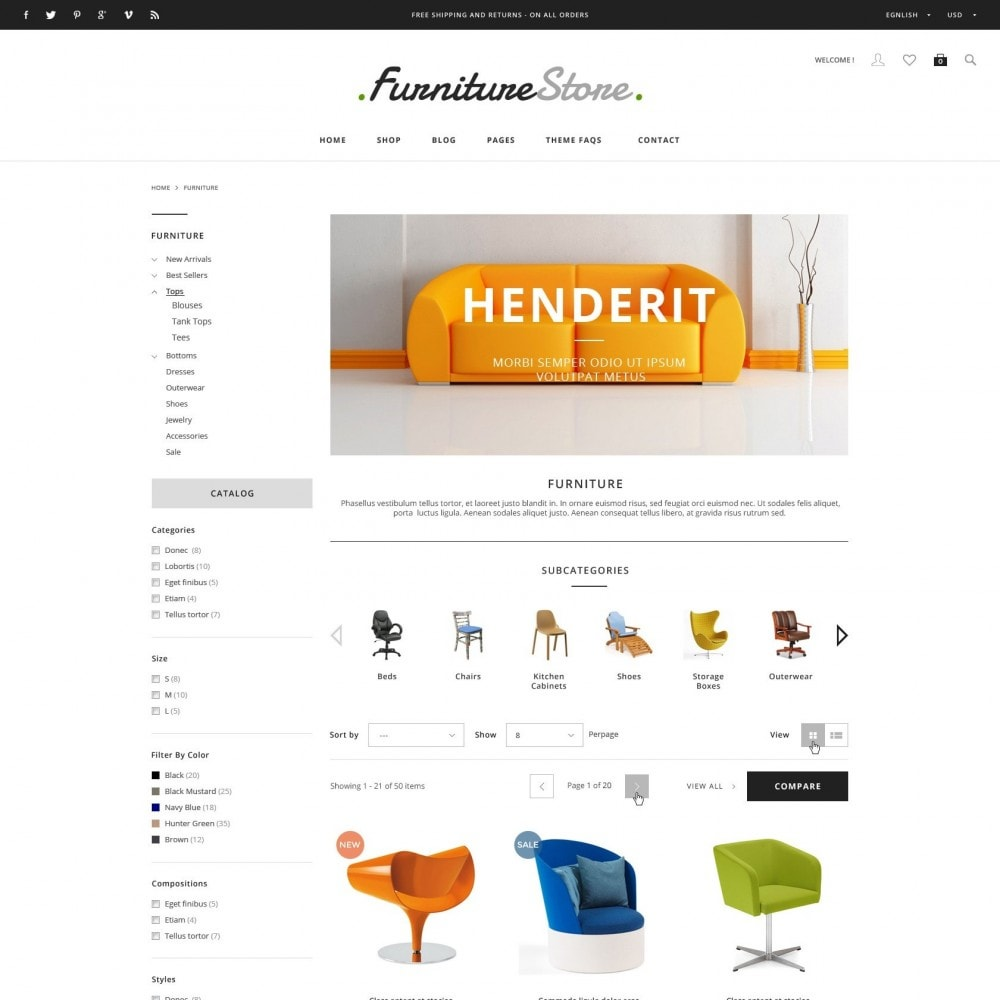 ET Furniture - Soffa & Bussiness PrestaShop Theme