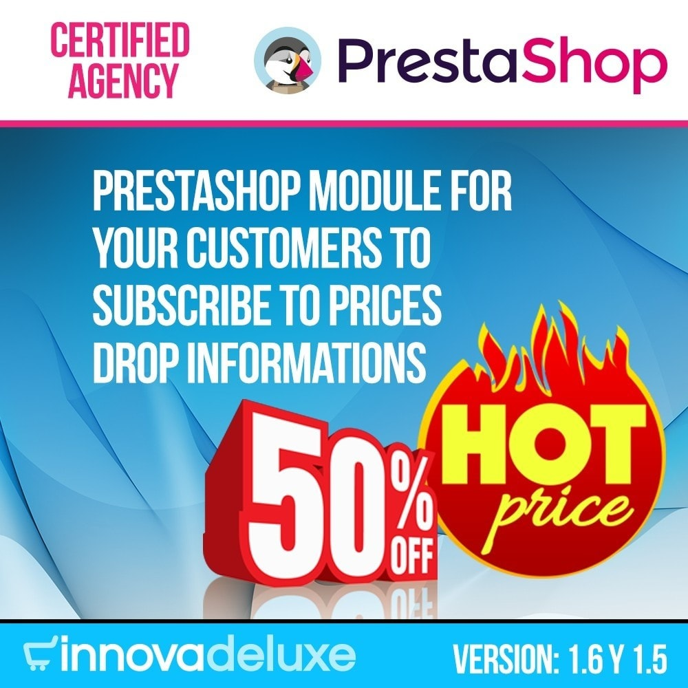 module - E-maile & Powiadomienia - Alert for subscription to price drops - 1