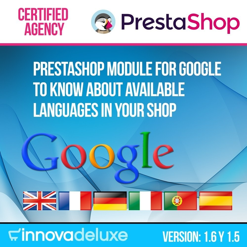 module - Internacional & Localização - MetaLang (info for Google of languages of the store) - 1