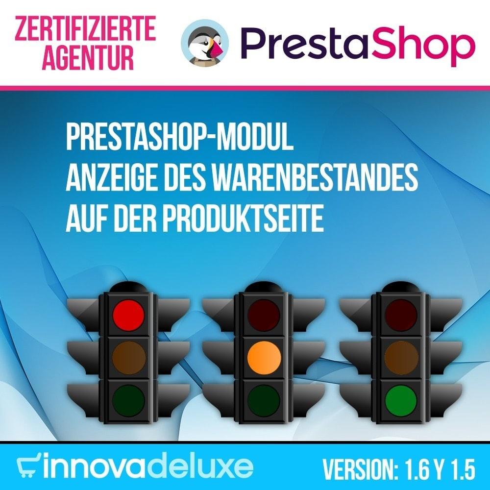 module - Zusatzinformationen & Produkt-Tabs - Anzeige des Warenbestandes auf der Produktseite - 1