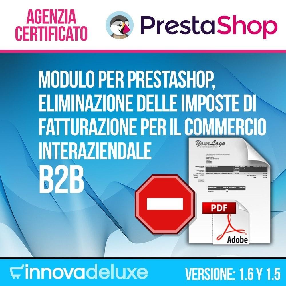 module - B2B - Eliminazione delle imposte di fatturazione (B2B) - 1