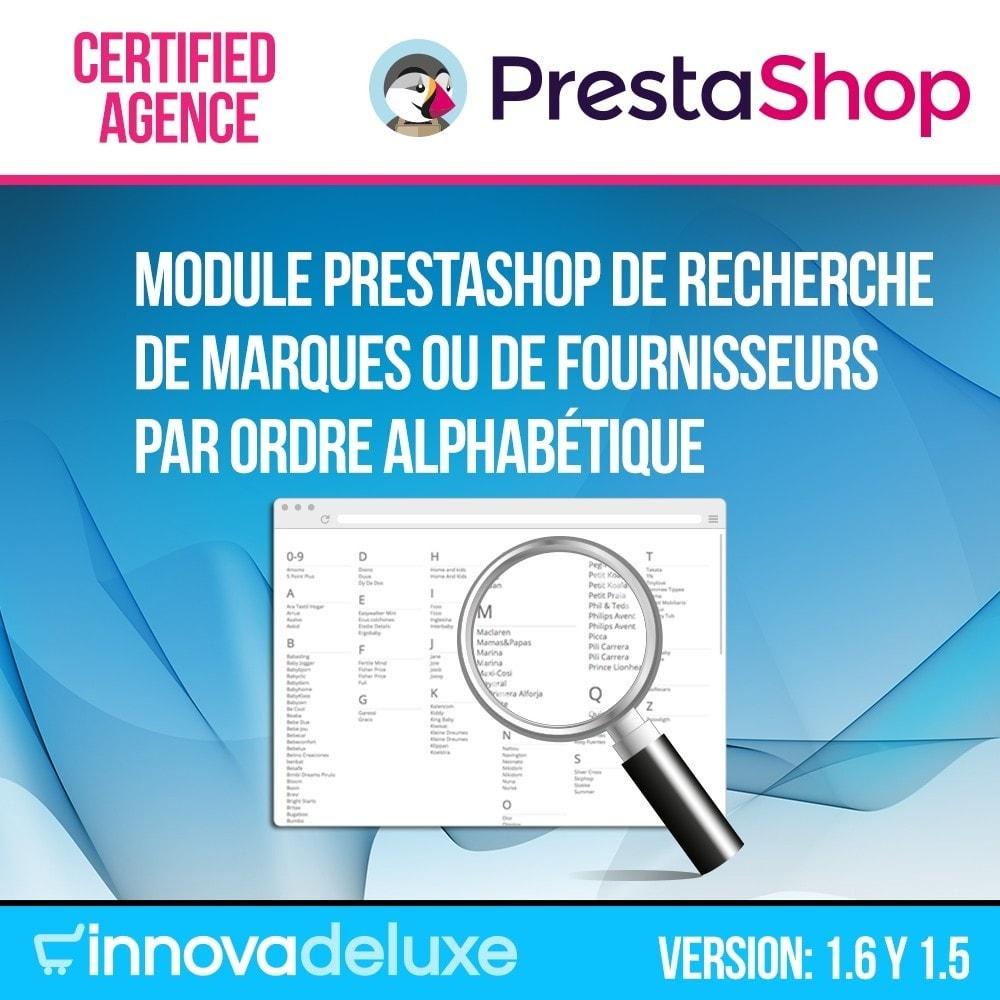 module - Recherche & Filtres - Moteur de recherche alphabétique de marques (fabricant) - 1