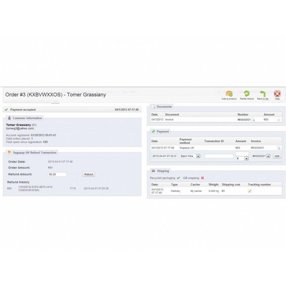 module - Paiement par Carte ou Wallet - Sage Pay (Opayo) - 4